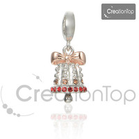 925 Silver Charm for any Pandora bracelet Christmas Bell Charms