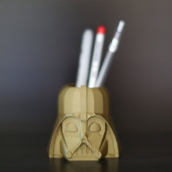 LIMITED EDITION! Copper/ Bronze Darth Vader Container/ Pen Cup/ Office Decor/ Home Decor/ Star Wars/ Holiday
