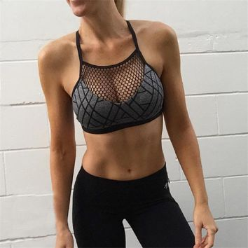 Sports Bra Fitness Top Yoga Bra Plus Size Crop Top Sport Women Mesh Sport Bra Gym Top Breathable Quick Dry