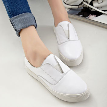 Leather Stylish Casual Classics Shoes [4920520260]