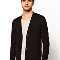 ASOS Cardigan In Lightweight Fabric - Black