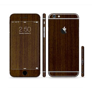 The Dark Quartered Wood Sectioned Skin Series for the Apple iPhone 6s Plus
