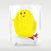Cute Fluffy Yellow Baby Chick Shower Curtain by andy fielding | Society6