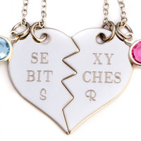 Sexy Bitches Necklace Set |Personalized Engraved Jewelry | Gift For Best Friend | Custom Birthstone Best Friend Gift | Best Bitches Jewelry