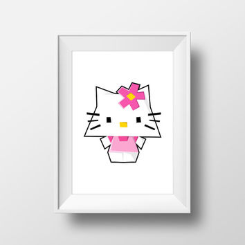 Hello Kitty / Sanrio / Digital Art Print / Instant Download