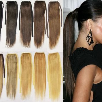 """22"""" REMY HUMAN HAIR PONYTAIL HAIR EXTENSION PIECE"""