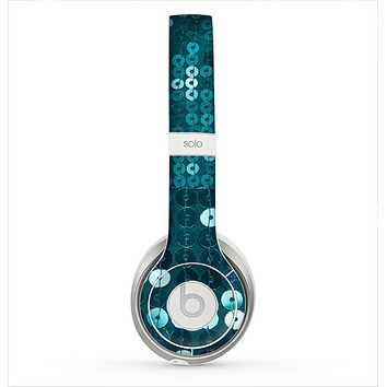 The Teal Sequences Skin for the Beats by Dre Solo 2 Headphones