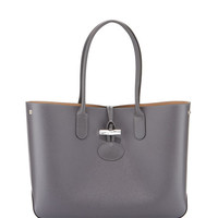 Longchamp Roseau Reversible Leather Tote Bag