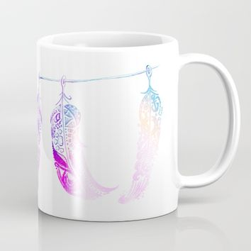 Triple Feathers Mug by DEPPO