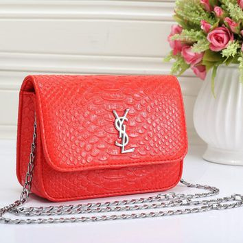 YSL Women Fashion Leather Shoulder Bag Crossbody-9