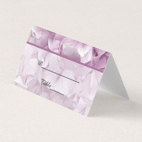 Soft Pink Hydrangea Flowers Wedding Place Card