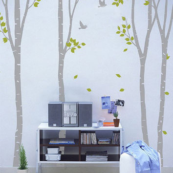 Vinyl Wall Decal wall Sticker Art  birds in birch by walldecals001