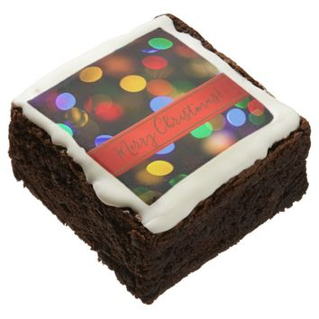 Multicolored Christmas lights. Add text or name. Brownie