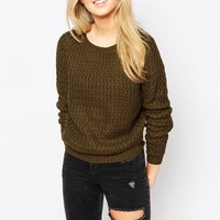 Brave Soul Open Knit Jumper
