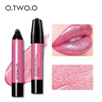 New Fashion Shining Liquid Lipstick for Women Brand Makeup Pigments Sexy Red Purple Shimmer Shiny Lip Gloss o.two.o Beauty