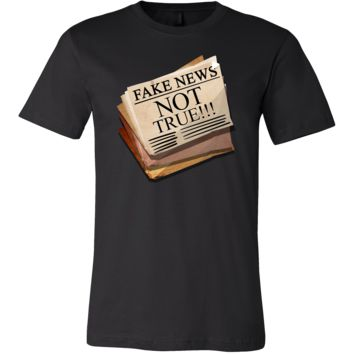 Funny Fake Newspaper Political Not True News Stamped T-Shirt