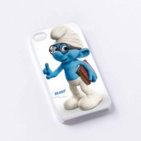brainy smurf cartoon iPhone 4/4S, 5/5S, 5C,6,6plus,and Samsung s3,s4,s5,s6