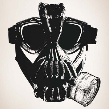 Vinyl Wall Decal Sticker Villain Gas Mask #5333