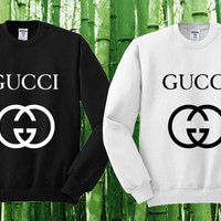 Gucci Sweater Black and White Sweatshirt Crewneck Men or Women Unisex Size