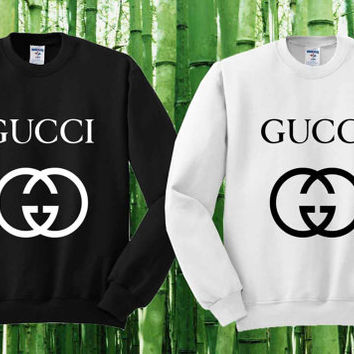 9f30ee8609b Gucci Sweater Black and White Sweatshirt Crewneck Men or Women Unisex Size