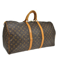 Reduced Authentic Vintage Louis Vuitton Keep All 55 Boston Keep All Duffle Bag Good Condition All Hallmarks present