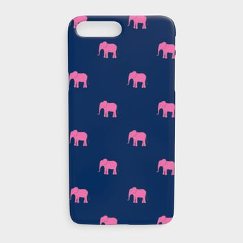 Elephant Cell Phone Case iPhone 7Plus / 8Plus - Pink on Navy