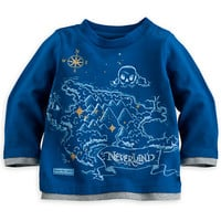 Never Land Map Tee for Baby