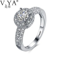 Crystal Wedding Rings for Women - Jewelry
