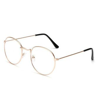 Vintage Round metal Frame Clear Lens Optical Aviator Glass Lunette Female Eyeglasses Men Oculos