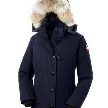 CANADA GOOSE winter women Down jacket/Navy blue