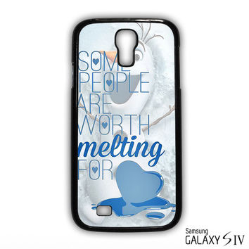 Some People Are Worth Melting For Olaf Funny Quote for phone case Samsung Galaxy S3,S4,S5,S6,S6 Edge,S6 Edge Plus phone case