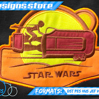 REY APLIQUE STAR Wars Patch Embroidery Machine Design Pattern Star Wars The Force Awekens