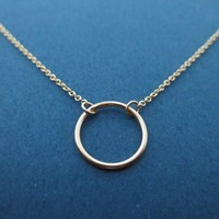 Simple, All Gold Filled, Karma, Necklace | simplecrystal - Jewelry on ArtFire