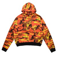 Multicamo Oversized Hoodie | Orange