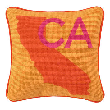 Location, Location, Location Pillow, California design by Trina Turk