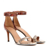 givenchy - nadia snake leather sandals