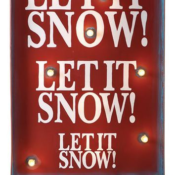 Roman 'Let It Snow!' Light Up Sign - Green