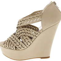FINDER318 STONE LASER CUT WOVEN STRAP WEDGE