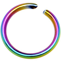 "20 Gauge 1/4"" Rainbow Anodized Annealed Steel Seamless Circular Ring 