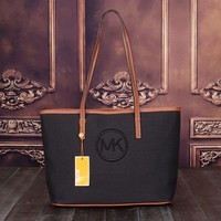 MK Canvas Women Shopping Leather Handbag Tote Satchel Shoulder Bag H-MYJSY-BB