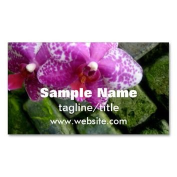 florist business card orchid double sided custom