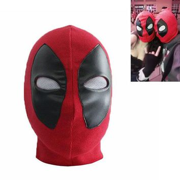 VLX0E4 Halloween Props Deadpool Mask Weapon X Superhero Balaclava Cosplay Costume X-men Hats Arrow Death Rib Fabrics Full Face Masks V3