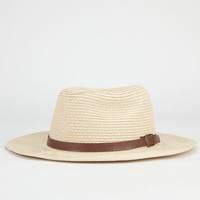 Belt Band Womens Straw Panama Hat Natural One Size For Women 23464542301