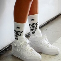 """Fuck You Pay Me"" Socks"