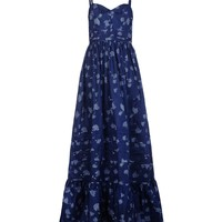 Band Of Outsiders Long Printed Dress- Maxi Dress - ShopBAZAAR