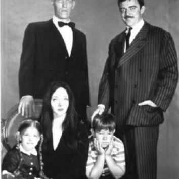 Addams Family Poster Standup 4inx6in black and white