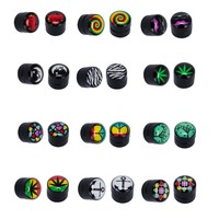 BodyJ4You  Fake Plug Kit Magnetic Gauges Earrings Logo Lot of 12 Pieces