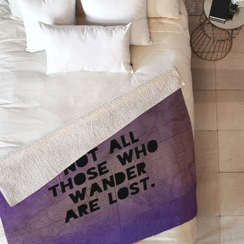 Leah Flores Those Who Wander Fleece Throw Blanket