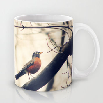 Art Coffee Cup Mug Robin Red Breast fine art photography home decor