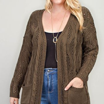 Good Tidings Cardigan + Olive